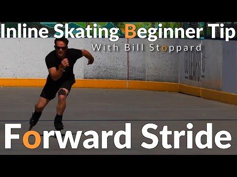 Inline Skating Beginner tips  -Forward Stride