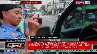Video ng babaeng nakipagtalo sa mga tauhan ng MMDA dahil sa illegal parking, kumalat sa social media