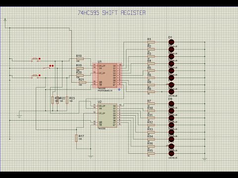 Simulating 74HC595 shift register using proteus  YouTube
