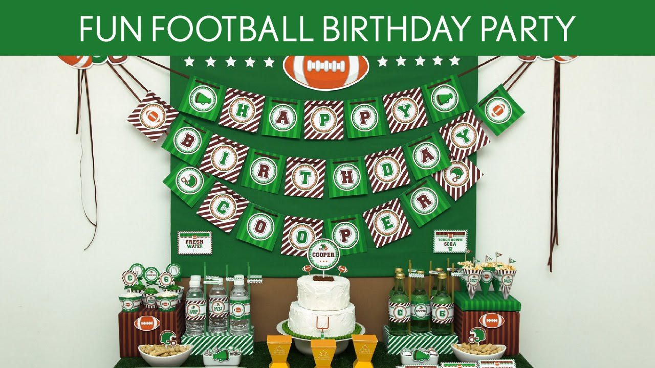 party intriguing birthday football plus robust dw reese also kid me supplies med favors decor nestle family ideas upscale decorations