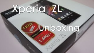 Sony Xperia ZL Unboxing