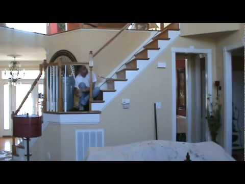 Removing Wood Balusters In Preparation For Wrought Iron Balusters