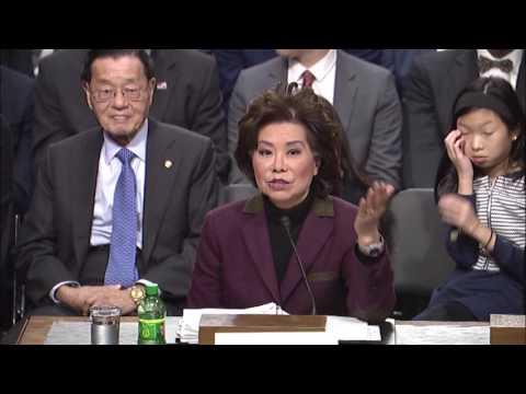 Senator Hassan Questions Secretary of Transportation Nominee Elaine Chao