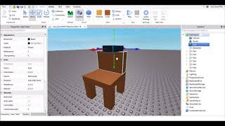 How to Make a Chair That You can Sit on - Roblox Studio