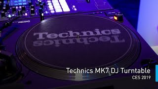 Technics MK7 DJ Turntable | #PanasonicCES 2019