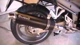 Suzuki GSX1250FA stock to Beowolf Exhaust