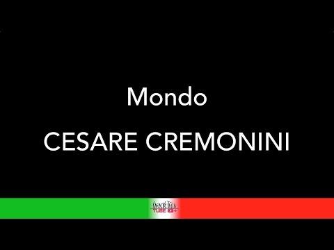 CESARE CREMONINI - MONDO - KARAOKE - KARAOKE ITALIA TUBE