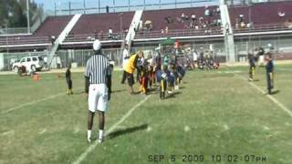 P- TOWN STEELERS FLAG FOOTBALL 2009 VS. WATTS RAMS SYFL