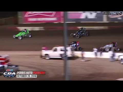 USAC/CRA Sprint Car Highlights | Perris Auto Speedway 10.20.18