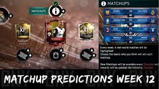 FIFA MOBILE 18 MATCHUPS PREDICTION WEEK 12! ELITE RODRIGO & XP AT STAKE! NEW FIFA 18 MOBILE EVENT!