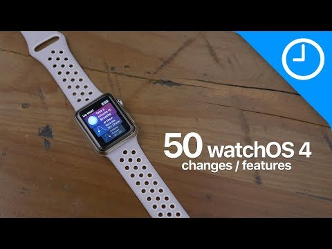 50+ new watchOS 4 features / changes!