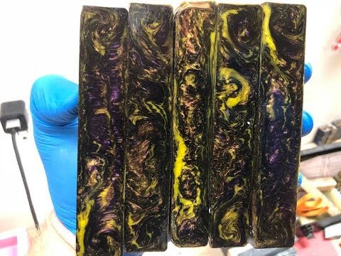 Live Resin Casting Pen Blanks  Alumilite, Liquid Diamonds, Polyester Resin, Flip Cup pours