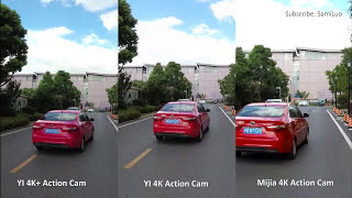 [4K] YI 4K+ Action Camera VS Xiaomi Mijia 4K Action Camera VS YI 4K Action Camera #SamiLuo