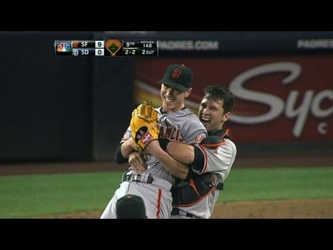 Tim Lincecum throws his first career no-hitter in 2013