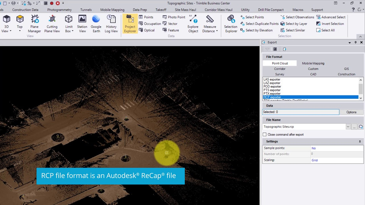 Video 7: Export from TBC, Import into AutoCAD Civil 3D