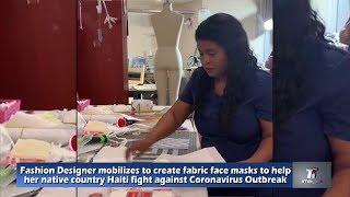 Coronavirus - Fashion Designer Madelange Laroche mobilizes to create face masks to help Haiti