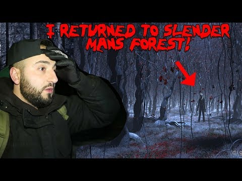 I RETURNED TO SLENDERMAN FOREST AND FOUND SOMETHING SCARY! *3AM IN SLENDERMAN FOREST*