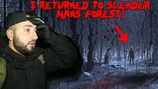 I RETURNED TO SLENDERMAN FOREST AND FOUND SOMETHING SCARY! *3AM IN SLENDERMAN FOREST* | MOE SARGI