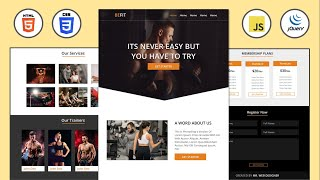 Complete Responsive Fitness Website Design Using [ HTML CSS JQUERY ] form Scratch