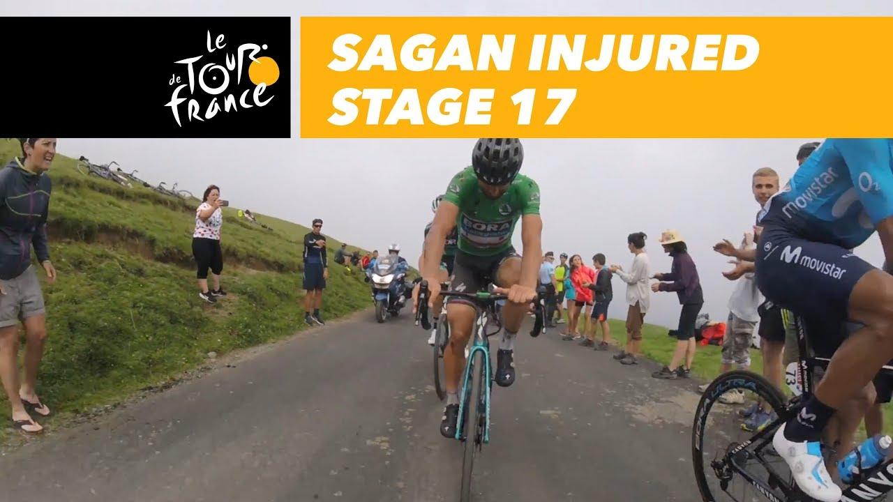 Sagan in Col du Portet following his crash - Stage 17 - Tour de France 2018 523fc06b1