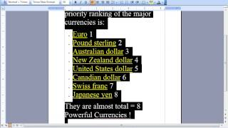 ForEx News Trading Strategy - Part 1