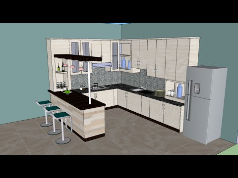 sketchup tutorial interior design kitchen - Sketchup Kitchen Design
