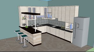 Download Video Sketchup tutorial interior design ( Kitchen ) MP3 3GP MP4