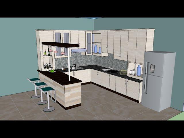 Sketchup Tutorial Interior Design Kitchen Youtube