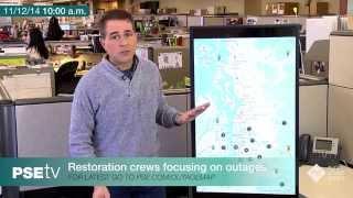 PSE-TV: Restoration crews focusing on outages