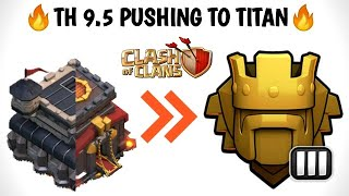 TH 9.5 Pushing To Titan 🛡   Trophy Pushing Live 🏆    Live Loot 🔍   Base Review 🔎