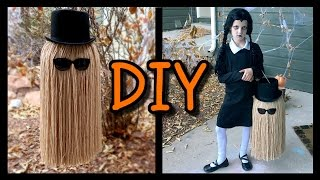 """How To Make a """"COUSIN IT"""" Trick Or Treat Bag!"""