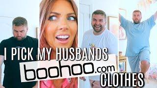 I PICK My HUSBAND'S Boohoo CLOTHES   Sam & Jay