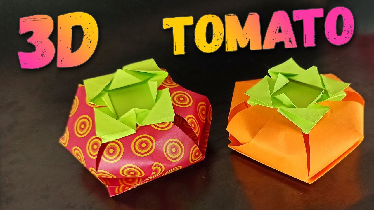 Origami boxes, Learn How to Make a Tomato-shaped Origami Box and More   720x1280