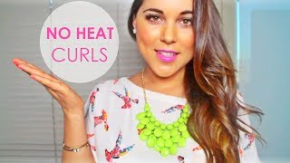 Soft Natural Curls - NO HEAT Hair Tutorial! (using sock/headband) Thumbnail