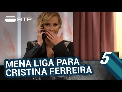 Filomena Cautela liga para Cristina Ferreira | 5 Para a Meia-Noite | RTP