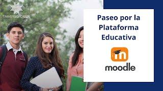 Paseo por la Plataforma Educativa (Moodle)