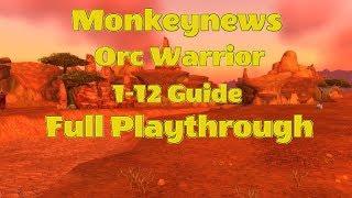 MN Vanilla / TBC 1-12 Orc Warrior Speedrun / level route (Incl. Profs & Class Quest)