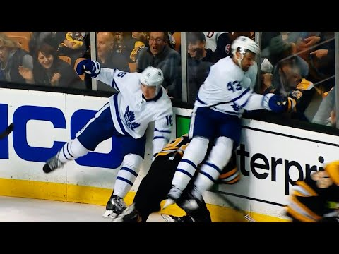 Kadri lands vicious hit on Wingels and game misconduct