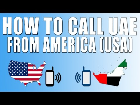 How To Call United Arab Emirates From America (USA)