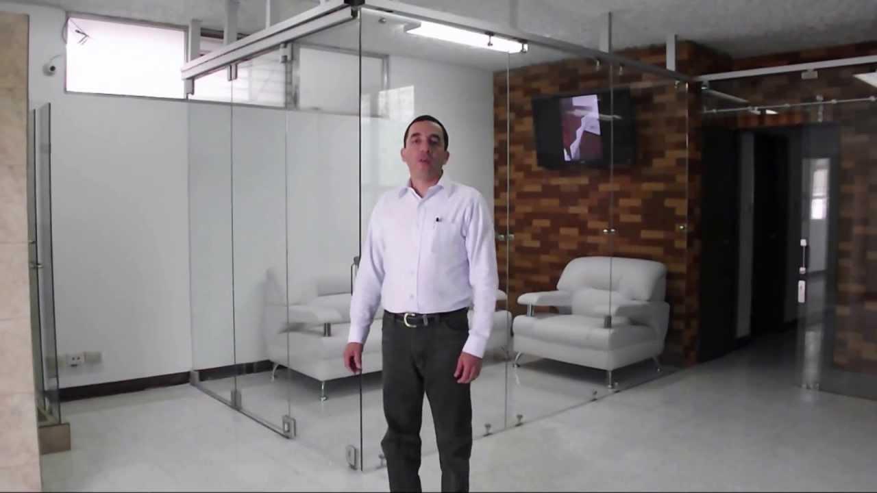 Puerta plegable de vidrio templado silice youtube - Puertas correderas de vidrio templado ...