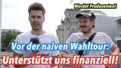 Wichtige Mitteilung: Helft uns finanziell & werdet Bundestagswahl-Produzenten!