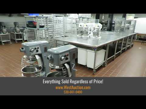 Online Auction Of Commercial Kitchen & Restaurant Equipment For Sale In Sacramento, CA