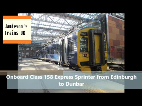 Onboard Class 158 Express Sprinter from Edinburgh Waverley to Dunbar