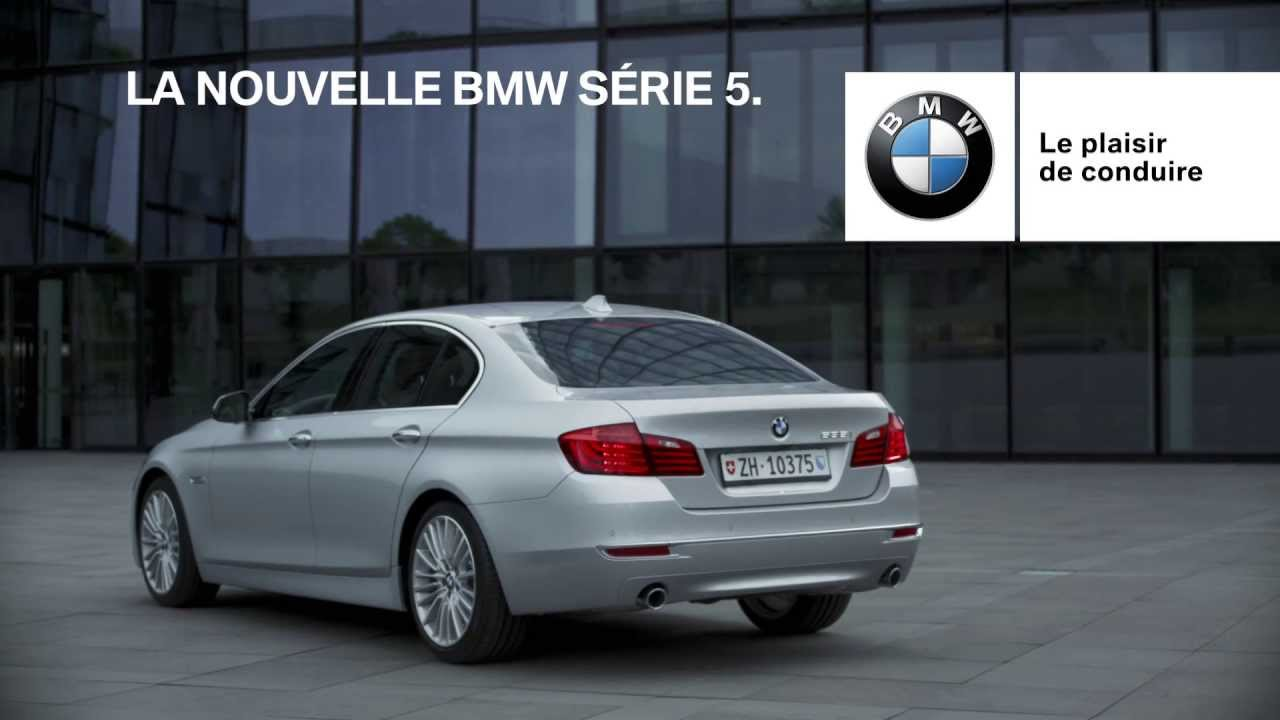 la nouvelle bmw s rie 5 spot publicitaire suisse youtube. Black Bedroom Furniture Sets. Home Design Ideas