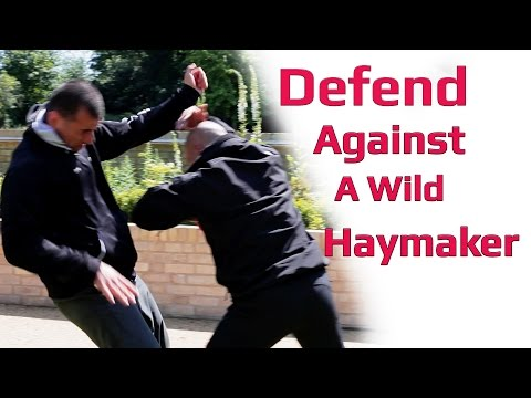 Defense against a wild haymaker punches