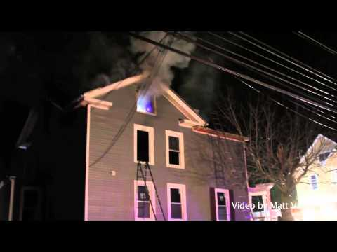 Silver Street and Elm Street   House Fire on the Corner