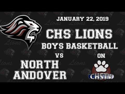 CHS Lions Boys Basketball vs N. Andover Jan 22, 2019