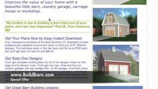 Pole Barn Plans - Here's How To Build Your Own