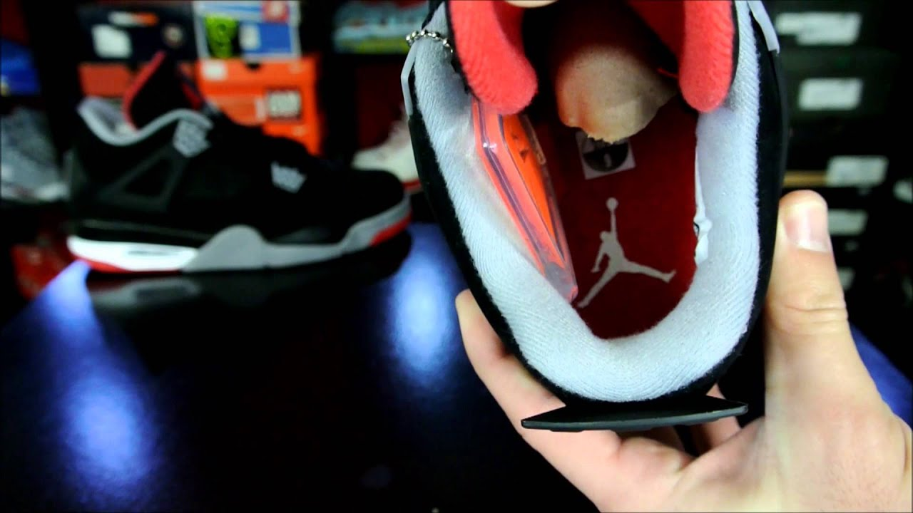 finest selection 8d15d 9e770 Air Jordan IV (4) Retro Black  Cement Grey- Fire Red  Bred  2012