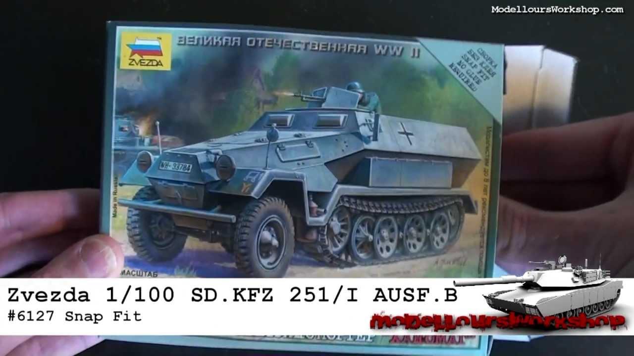 Zvezda 6127 1:100 B 251//1 Ausf Deutscher Schützenpanzerwagen Sd.Kfz
